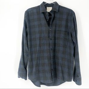 Billy Reid Men's Size S Plaid Button Down Shirt